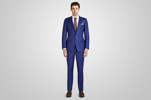 Harrolds Private Label French Suit in Brilliant Blue