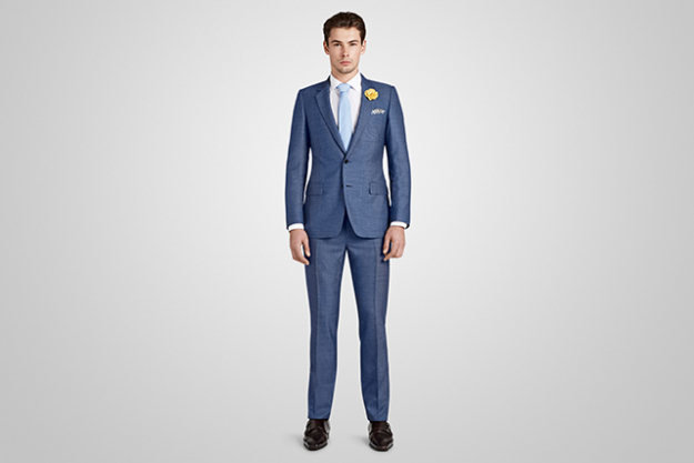 Harrolds Private Label French Suit in Blue Check
