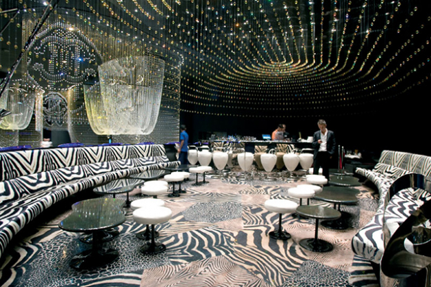 "Cavalli Club, Dubai<p><span style=""font-size: 17px; line-height: 29px;"">The name says it all - this is none other than </span><a style=""font-size: 17px; line-height: 29px;"" target=""_blank"" href=""http://dubai.cavalliclub.com/"">Roberto Cavalli's own night club</a><span style=""font-size: 17px; line-height: 29px;"">, and one step inside and and the fashion designer's influence is immediately clear. Prepare to be dazzled by chandeliers dusted with 356,000 Swarovski crystals (the interior is said to have cost a staggering $30 million), leopard print lounges suspended over the dance floor and a showcase of Cavalli couture.&nbsp;</span></p>"