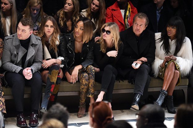 Sam Smith, Cara Delevingne, Jordan Dunn, Kate Moss, Mario Testino and Naomi Campbell