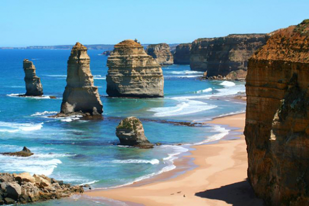Great Ocean Road, VIC: Victoria's picturesque coastline is the drawcard of this scenic drive, with highlights like the Twelve Apostles, Bells Beach and if you're lucky, spotting the odd whale.