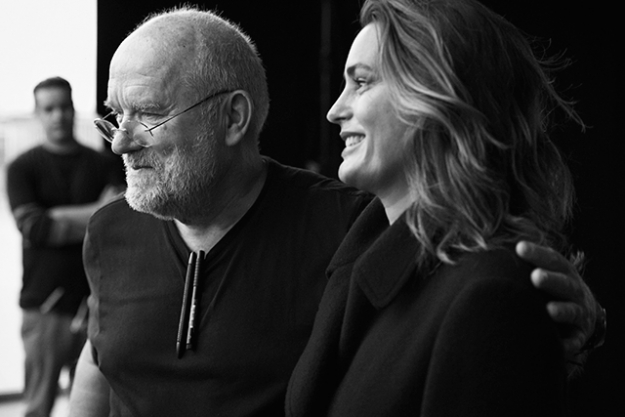 Peter Lindbergh and Yasmin Le Bon