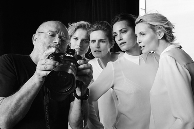 Peter Lindbergh shooting the campaign.