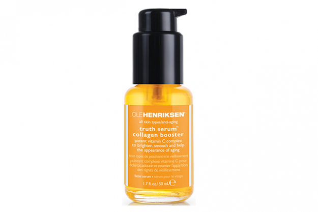 Ole Henriksen Truth Serum Collagen Booster. This hero product has so many incredible ingredients in the one bottle it sells itself! Green tea, grapefruit, rosehip, vitamins C and E plus moisture-binding materials make it a superhero product.