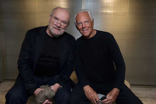 Giorgio Armani and Peter Lindbergh