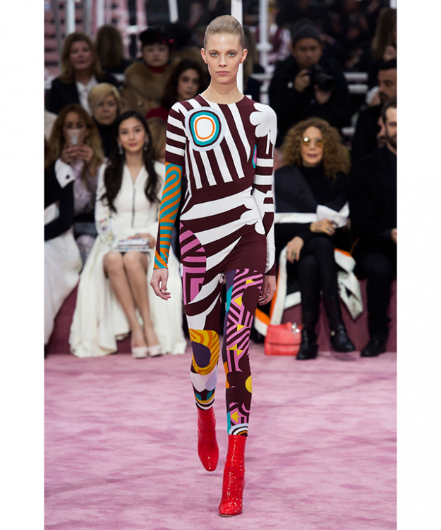 "Over at Christian Dior, Spring 2015 Couture paid homage to Bowie's track 'Moonage Daydream', which the show was named after. ""Bowie is very haute couture, but at the same time he's the opposite,"" Simons told Dazed."
