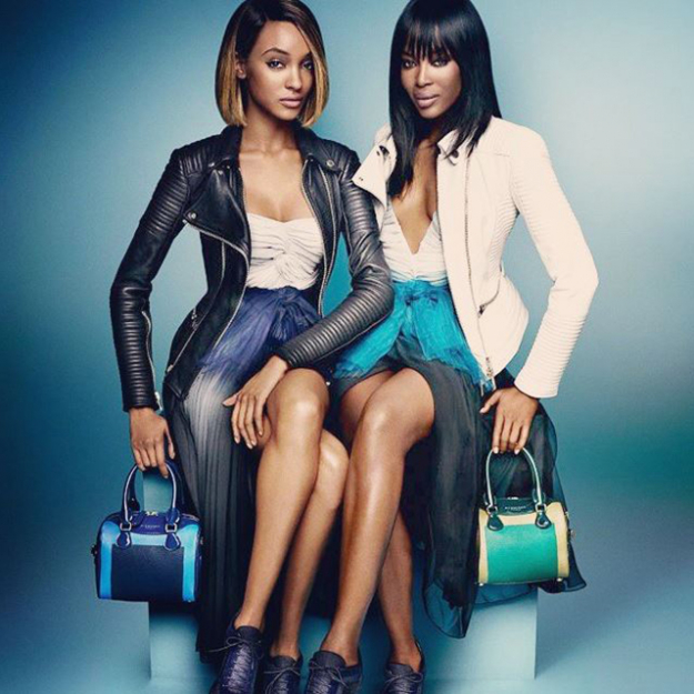 Jourdan Dunn and Naomi Campbell in the Burberry campaign