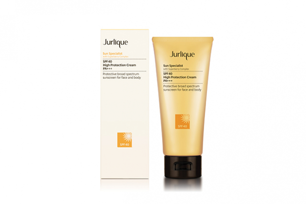 "Jurlique Sun Specialist SPF 40 High Protection Cream: use this on face AND body.<p><a target=""_blank"" href=""http://www.jurlique.com.au"">jurlique.com.au</a></p>"