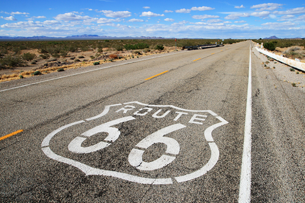 Route 66, Chicago to LA: For a taste of real Americana, cross the country's mid-west, with multiple pit stops at retro diners, kitsch burger joints and dusty watering holes. This route takes in the Grand Canyon.