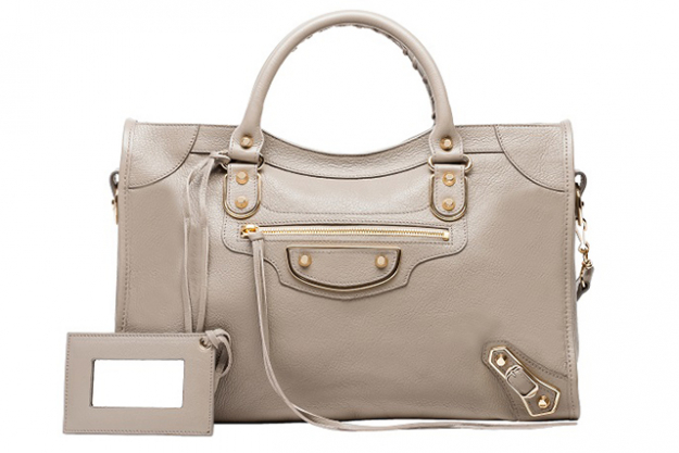 "Balenciaga Holiday Collection Classic Metallic Edge City medium-sized goatskin hand carry and shoulder bag with metallic edge hardware<p><a target=""_blank"" href=""http://www.balenciaga.com/au/metallic-edge-handbag_cod45287599mj.html"">balenciaga.com/au/metallic-edge-handbag</a></p>"