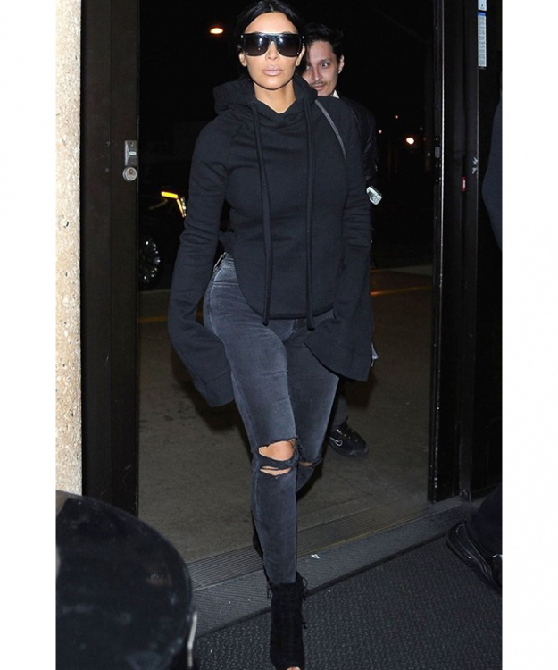Kim Kardashian West wearing Vetements
