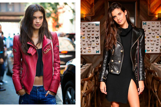 "Go-to outfit: ""I love wearing a leather jacket. It goes over everything."""