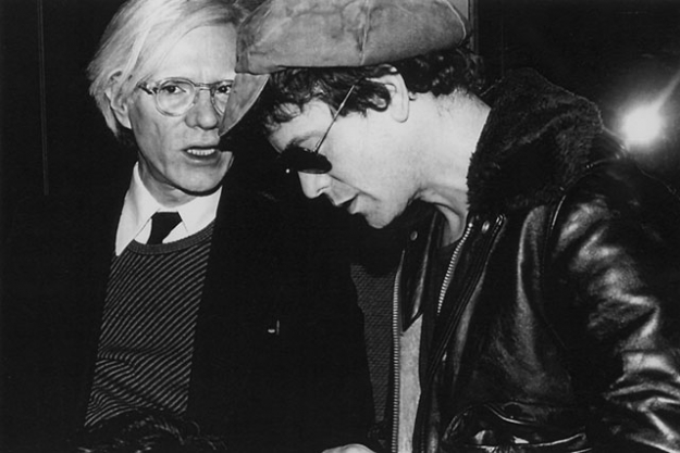 Andy Warhol and Lou Reed, 1977