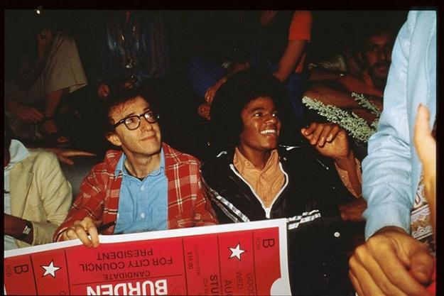 Woody Allen and Michael Jackson, 1977