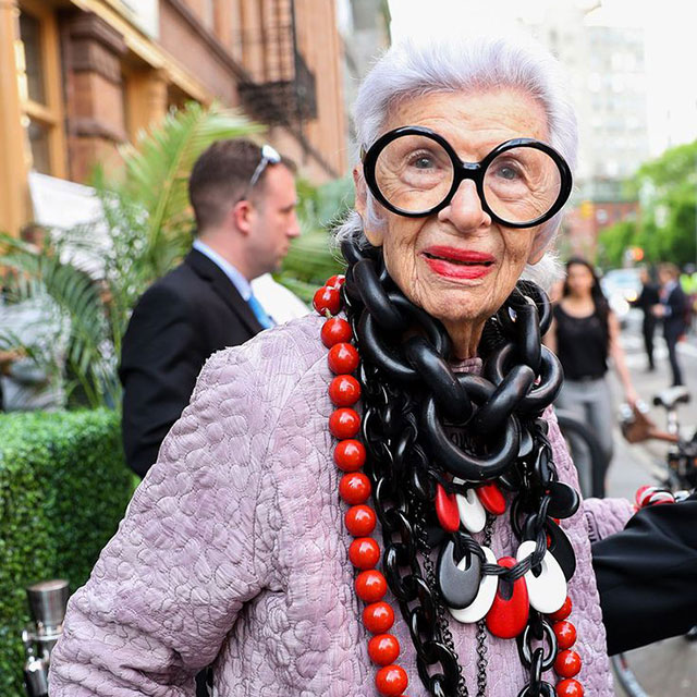 """If there was a choice on spending a lot of money on accessories or dress, I always choose accessories."" - Iris Apfel"