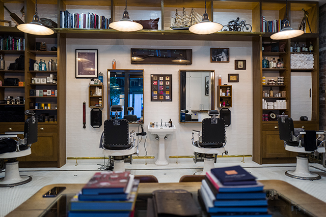 The Barbershop - Of all the barbershops popping up in Sydney, this is arguably the most well know. I hazard a guess that's due to the adjoining bar – winner of 2015 NSW Bar of the Year, no less. The vibe here is top barbers employing time-honoured techniques in a refined space evoking a by-gone era. Go for the Chivas Ultimate package, which includes a cut, shave, face scrub and moisturiser - along with a Chivas cocktail plus a tasting board of Chivas 12, 18 and 25 year old whiskey. 89 York St, Sydney www.thisisthebarbershop.com