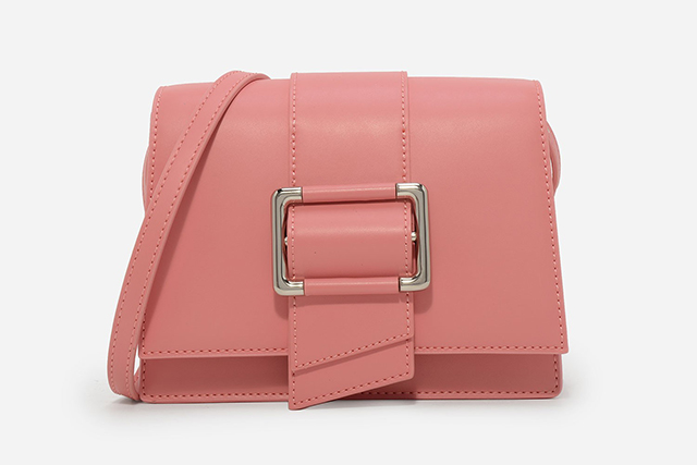 1.	Every woman needs a pop of millennial pink this spring, and this handbag, $69, is the perfect way to go get it.