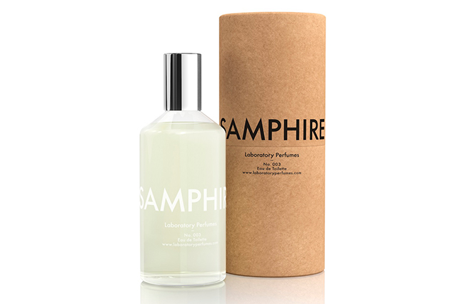 1.	Laboratory Perfumes Samphire EDT, $159, manonbis.com.au. Like the ingredient from which it takes its name, this scent is fresh, green and has a slight tinge of salt. Ideal if you like something light and zingy but without an overload of citrus. This house has been knocking out gender-neutral gems since 2011 and Samphire is a bona fide head turner.