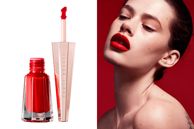 1.	Fenty Beauty Stunna Lip Paint, $36, sephora.com.au. A super-pigmented matte liquid lipstick in an intense blood red. Designed to flatter every skin tone, it comes personally vetted by Rihanna herself. Oh, and it WILL NOT budge, we promise.