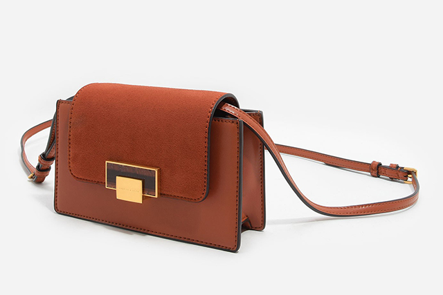 2.	A cognac coloured crossbody is the perfect brunch bag, $69