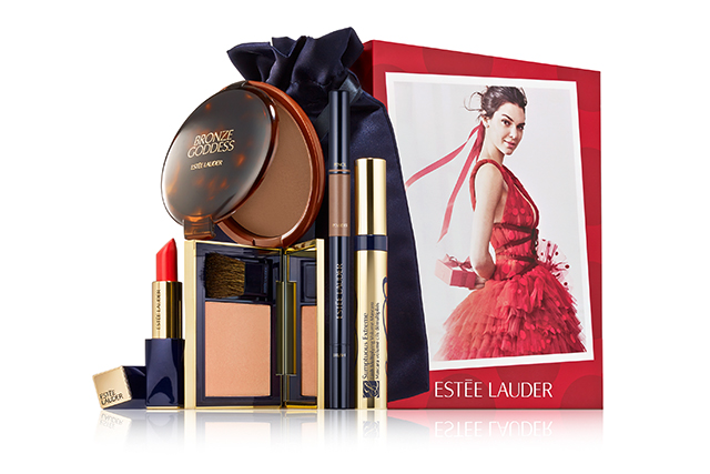2.	Estee Lauder's Kendall Collection. New York brand Estee Lauder's prestigious partnership with Kendall Jenner - the beachier, more pared back Kardashian sister- has proved a smash success since she debuted as the face of Modern Muse fragrance in 2014, days after her portrait became Instagram's most liked post ever. This holiday kit curates Kendall's 'It List'. Sun-kissed, tawny colour as California girl signature - tread softly with the 'Light' shade of Bronze Goddess Bronzer. The kit cheats a little radiance bouncing off cheeks (hey, it is silly season) with blush in Luminizer, and Kendall's hero poppy-red shade Restless as the perfect slick of matte, happy-go-lucky lipcolour for a day on the boat. Long-wear power lash in Extreme Black and 3-in-1 Brow Multi-Tasker in Light Brunette add definition - the key to that groomed, understated Kendall look.  $180, available exclusively at esteelauder.com.au