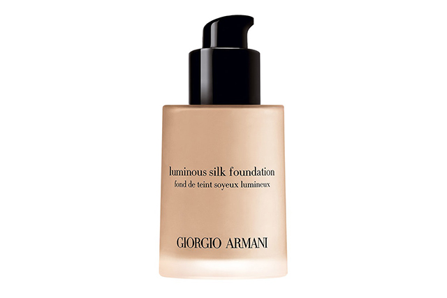 1.	Foundation: Armani Luminous Silk Foundation. I can keep it light or build it up to full coverage.