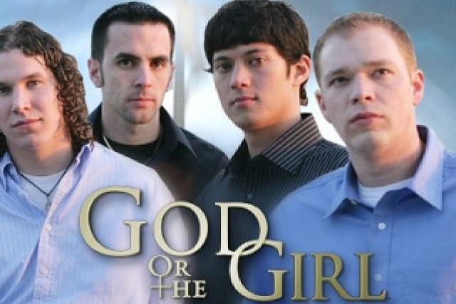 God or The Girl (2006). Take four young men who are considering entering the priesthood (and the celibacy it entails) then get them to tackle a monumental task - say schlepping a 36-kilogram cross 35 kilometres - while they mull over their decision. So where does the girl come in? Each of these 20-something dudes has a significant other in his life. Who possibly owns the last pair of boobs he will ever see. Good times.