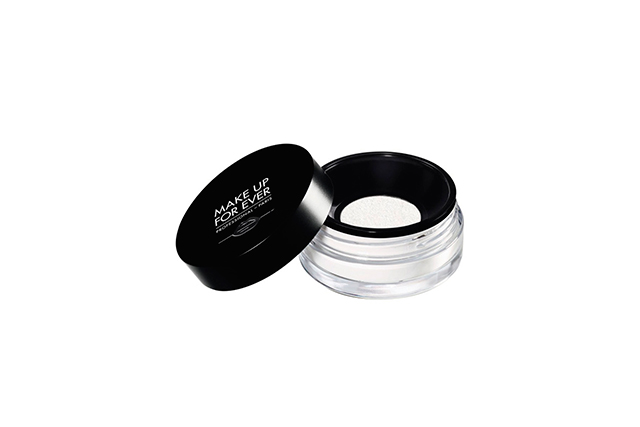 Setting powder: One of the key products to set your make-up and prevent future blotchiness. Choose a translucent powder for a blurring effect and to avoid looking overly cakey. Make Up For Ever Ultra HD Loose Powder 01 translucent, $36, sephora.com.au