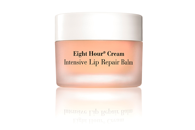 3.	Elizabeth Arden Eight Hour Cream Intensive Lip Repair Balm, $28, shop.davidjones.com.au. An extension of the cult Eight Hour Cream, this highly concentrated balm works to deeply hydrate the driest of lips and works to strengthen their moisture barrier after continual application. Used alone, it has a  subtle sheen and a minty fresh eucalyptus fragrance.