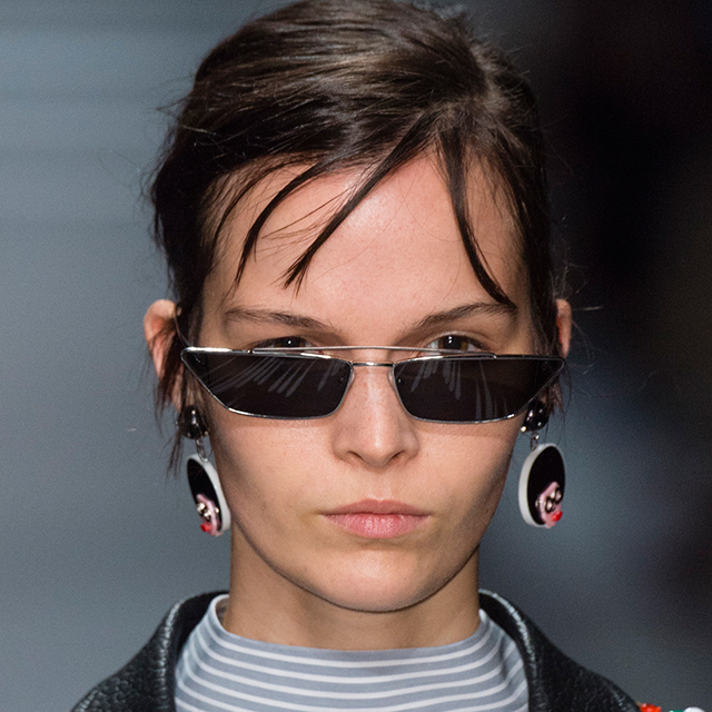 2ceb9c6df6 Tiny sunglasses trend  micro shades worn by Bella Hadid