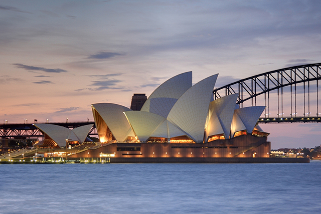 8.	Sydney Opera House, Australia. Who knew Circulay Quay could be so love inspiring? Although admittedly, the sight of those famous white sails is still really impressive to us.