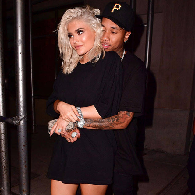 3.	Kylie enjoys an on-again-off-again relationship with Tyga, who has a son King Cairo with Kylie's former future-sister-in-law Blac Chyna, who now has a baby with Kylie's half-brother Rob. (Confused? We still are. All you really need to know is that it made for some awkward family gatherings.)
