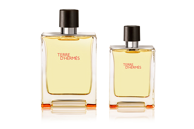 3.	Hermès Terre D'Hermès EDT, $155, davidjones.com.au. Oak moss and orange are the main players in this classic. There is also a sophisticated slate element underpinning the whole shebang. Clean, lean and eternal.