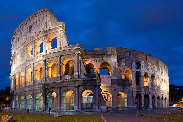7. Colosseum, Italy. Once the site of ancient Roman gladiator battles, now, we guess it's a beacon of yearning in romantic Rome.