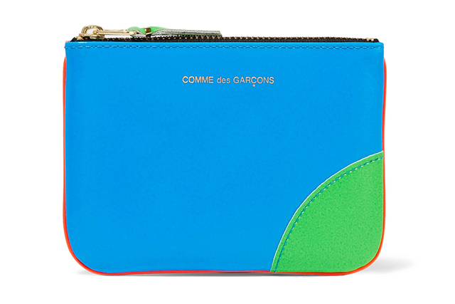 This witty leather wallet, shaded in electric tones of blue and orange, could only come from Comme des Garçons. The Japanese brand infuses even its smallest accessories with personality. The wallet is ideal for stowing change, lip gloss or keys. Comme des Garçons leather wallet, $126, net-a-porter.com/au