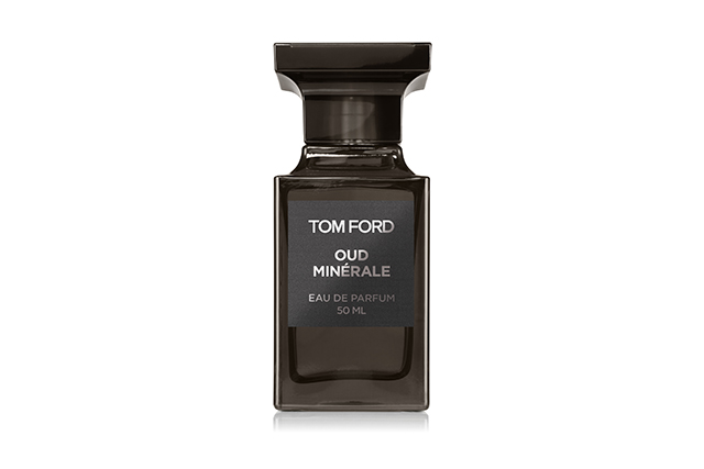 4.	Tom Ford Private Blend Oud Minerale EDP, $340, davidjones.com.au. The man who practically revived the woody magnificence of oud back in the day now adds a mineral layer to the timber/spice base. In anyone else's hands, it would be a gamble. But with TF, it's a statement.