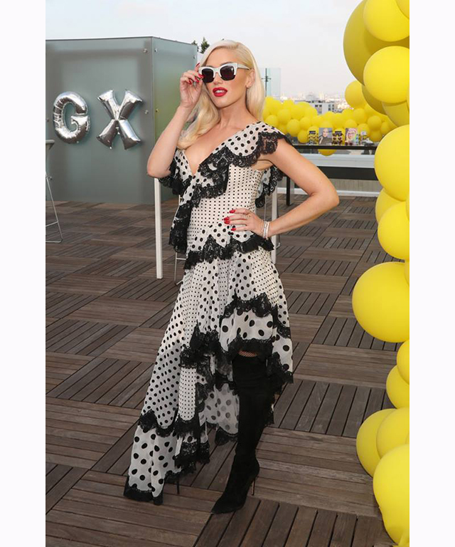 Gwen Stefani in Zimmermann dress.