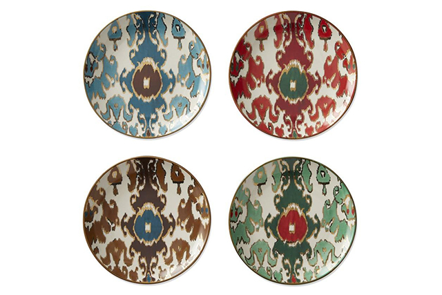 Style icon Aerin Lauder collaborated with Williams Sonoma recently to produce a scintillating collection of homewares. These gold-trimmed, ikat-printed plates are versatile enough to use for starters, salads and desserts. Aerin for Williams Sonoma plates, $62, williams-sonoma.com.au