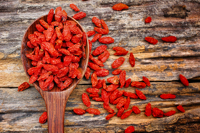 4. Goji berries. The Chinese secret to a long life… and yes, they taste great in water.