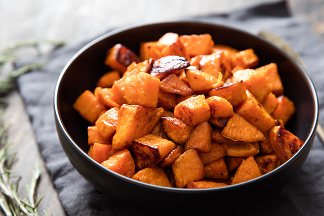 5. Sweet Potatoes. Swap out your traditional mashed potato side for sweet potatoes; the carbohydrate is rich in antioxidants and improves cell function.