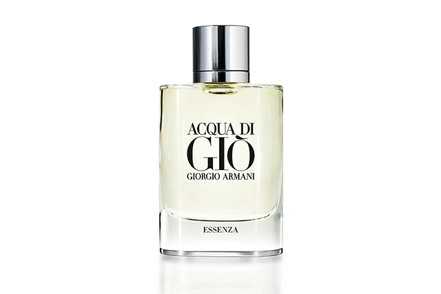 6.	Giorgio Armani Acqua Di Gio Essenza EDT, $115, davidjones.com.au. There's a reason the original iteration of this scent sold a gazillion bottles – it precisely balanced classic and contemporary elements, the conservative and the avant- garde and didn't take a chunk out of your savings account. A couple of years ago, the concoction was given an upgrade with the likes of jasmine, basil, sage and pepper. It's this incarnation which has more women straying to the men's aisle in department stores. Subtle yet ballsy.