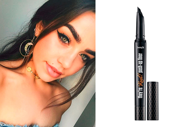5.	Eyeliner:  Benefit They're Real Push Up Liner. My holy grail!!!! I have been using this for years, it's the only eyeliner I find that doesn't rub off or smudge easily, and I also find it perfect for creating an amazing cat eye.