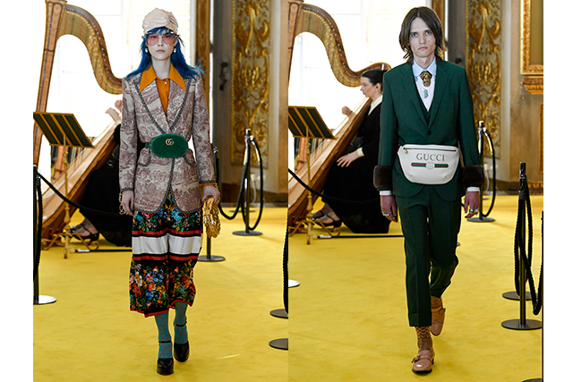 6.	Could the bumbag be back? In Gucci's Marmont style or plastered with its iconic logo, maybe.
