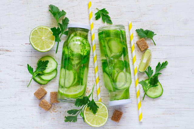 5. Cucumber. I can't stress enough how powerful cucumbers are! And infused in water they are so refreshing.