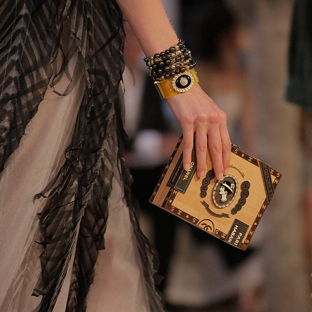 A cigar box clutch