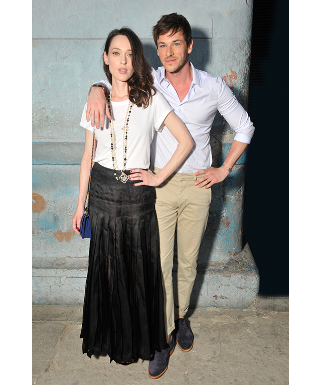 Gaelle Pietri and French actor Gaspard Ulliel