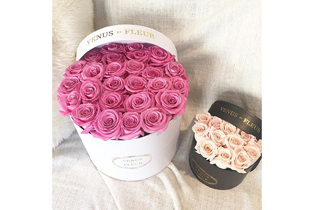 FOR HER: Venus Et Fleur, Small Round Flower Box, $299 (USD).