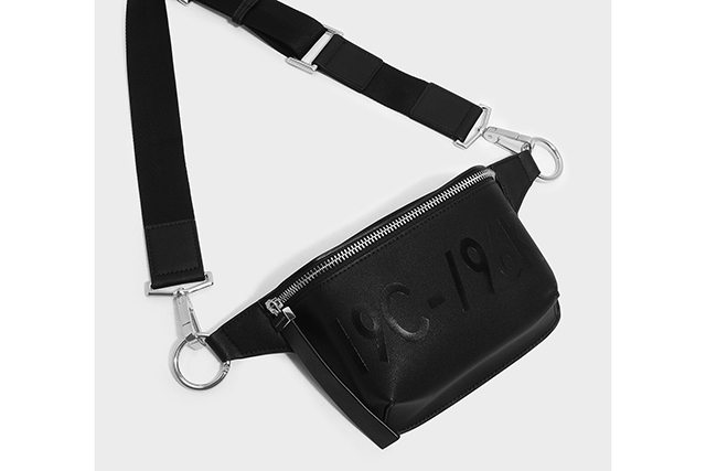 8.	Seen slung across the chests of everyone from Kendall Jenner to Bella Hadid and Elsa Hosk, the bum bag is everywhere this season. We love the utilitarian cool of this black one, $69