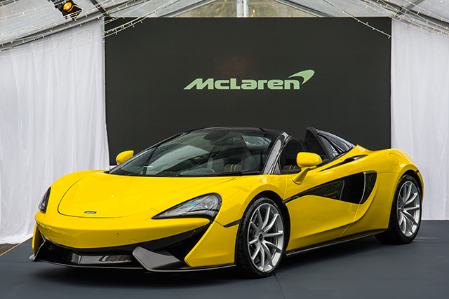 Got a spare $435,750 to spare? Then the brand new McLaren 570s Spider could be yours.. dropping this month, this exhilarating piece of top-down machinery is one of the most ~affordable~ McLarens, (I know, I know, I'm just putting it in here because it's just fucking cool) and boasts a 3.8L twin turbo V8 engine, seamless-shift gearbox and all the thrill you need in life. Go take a peek @ your local dealer to see what I mean.