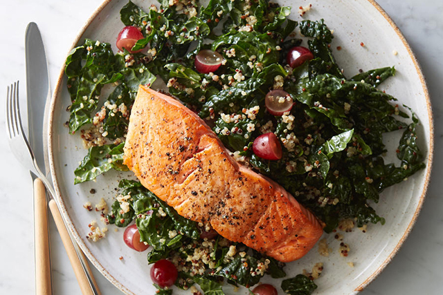 8. Salmon. Protein-rich salmon is a superfood full of essential nutrients like omega-3 fatty acid, which is necessary for the activation of T-cells. The higher your T-cell count, the better chance you have of not getting sick.